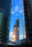 Bau des neuen Wolkenkratzers Stockbild