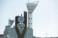 Bau des Olympiaparks in Gangneung Stockfotos
