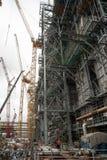 Bau des petrochemischen Werks Tobolsk Stockfoto