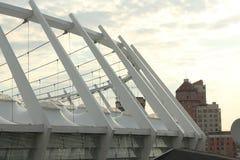 Bau des Stadionsdachs Lizenzfreie Stockfotografie
