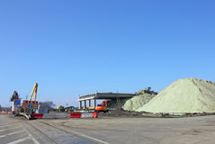 Bau des Viadukts Stockfoto