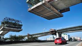 Bau des Viadukts Lizenzfreie Stockbilder