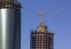 Bau des Wolkenkratzergebäudes Lizenzfreies Stockfoto