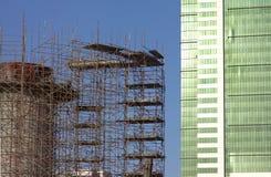 Bau des Wolkenkratzergebäudes Lizenzfreie Stockfotografie