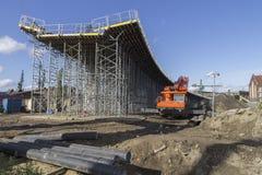 Bau einer Brücke Lizenzfreies Stockbild