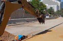Bau einer Straße Lizenzfreie Stockfotografie