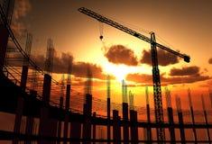 Bau eines Gebäudes lizenzfreie stockfotos