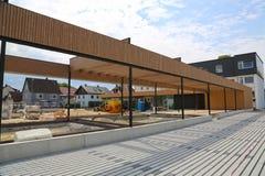 Bau eines Gemeindegebäudes im Dorf in Deutschland stockfoto