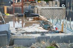 Bau eines neuen Wohnhauses stockfoto