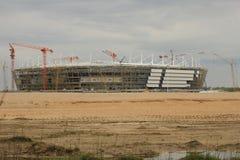Bau eines Stadions stockbilder