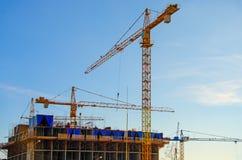 Bau eines Wohnhauses lizenzfreies stockfoto