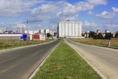 Bau in Erweiterung Sibius Mihai Viteazu Lizenzfreie Stockfotos