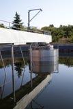 Bau für eine Abwasseraufbereitung Stockbild