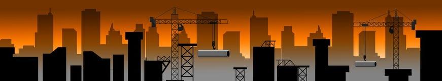 Bau-Gebäude stockfotografie