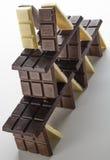 Bau gemacht von der Schokolade Stockfoto