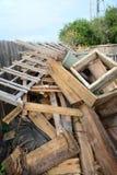 Bau gestaltet Stapel um Stockbild