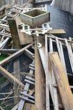 Bau gestaltet Stapel um Stockfotografie
