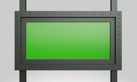 Bau-Grünzeichen der Wiedergabe 3d Metall lizenzfreie abbildung