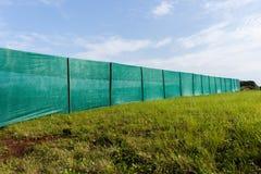 Bau-Grenzvorhänge Stockfotografie
