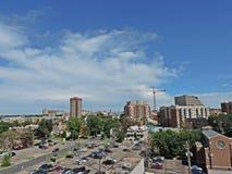Bau in im Stadtzentrum gelegenem Denver Colorado Lizenzfreie Stockbilder
