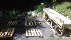 Bau jardin Stockbild
