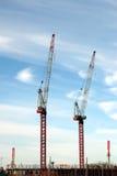 Bau-Kräne Lizenzfreie Stockbilder