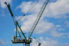 Bau-Kran, Stadt von London Stockbild