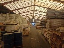 Bau-Lager stockfoto