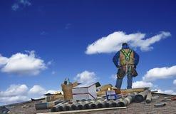 Bau Roofer Worker stockfoto