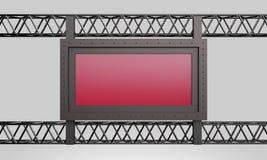 Bau-Rotzeichen der Wiedergabe 3d Metall stock abbildung
