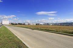 Bau in Sibiu Mihai Viteazu zu Erweiterung Hipodrom I Stockfotografie