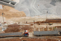 Bau-Tätigkeit stockfoto
