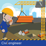 Bau und Tiefbau Stockfoto