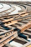 Bau von Eisenbahnlinien lizenzfreies stockfoto