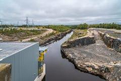Bau von Elektrizitätswerken Stockfoto