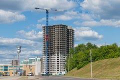 Bau von hohen Gebäuden Stockfoto