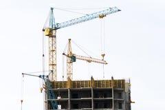 Bau von monolithischen Häusern Lizenzfreies Stockbild