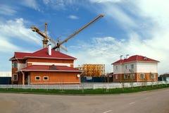 Bau von Neubauten Stockbilder