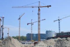 Bau Workside bei Diemen die Niederlande Lizenzfreies Stockfoto