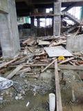 Bauabfall Stockbild