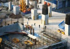 Bauarbeit, Asien-Stadt Lizenzfreie Stockfotografie