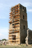 Bauarbeit auf alter Ruine in Panama City Lizenzfreies Stockfoto