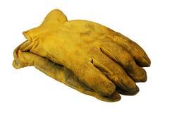 Bauarbeit-Handschuhe stockfoto