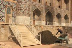 Bauarbeit in Registan Stockbilder