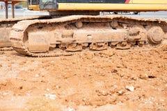 Bauarbeitbereich mit schwerer Ausrüstung Stockbilder