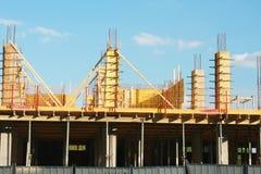 Bauarbeiten im städtischen Platz Stockfotos