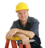 Bauarbeiter entspannt Stockfoto