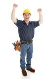 Bauarbeiter erregt lizenzfreie stockbilder