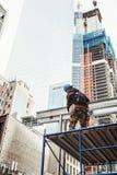 Bauarbeiter im Lower Manhattan Lizenzfreie Stockfotos