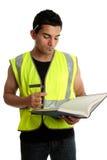 Bauarbeiter oder Kursteilnehmer lizenzfreies stockbild